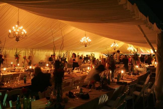 Tent Line and Chandelier