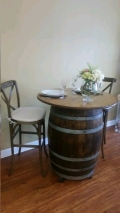 Rental store for VINTAGE BARREL TABLE TOP in Cornelius NC