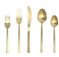 Where to rent BRUSHED GOLD FLATWARE in Cornelius NC
