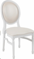 Where to rent KING LOUIS CHAIR WHITE in Cornelius NC
