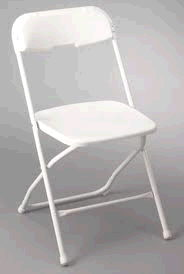Where to find FOLDING CHAIR WHITE in Cornelius