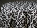 Rental store for DAMASK BLACK   WHITE PRINT LINEN in Cornelius NC