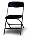 Where to rent FOLDING CHAIR CHARCOAL ALUMINUM in Cornelius NC