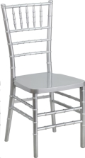 Where to rent CHAIR CHIAVARI SILVER RESIN in Cornelius NC
