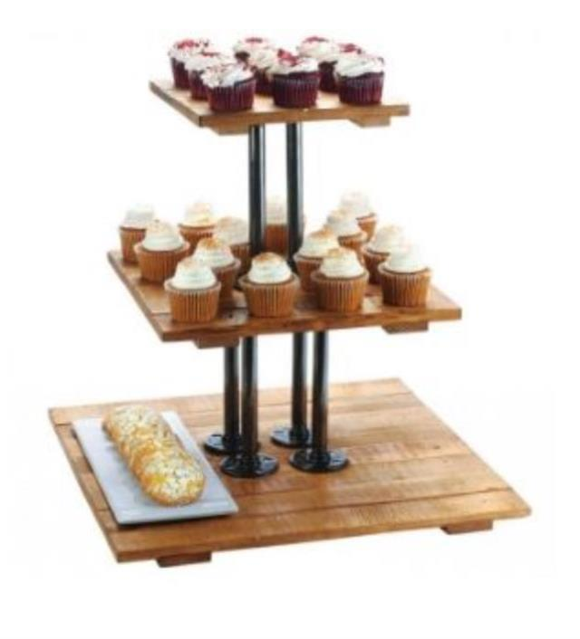 Where to find 3 TIER RUSTIC FAUX WOOD SERVER-SQUARE in Cornelius