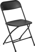 Where to rent FOLDING CHAIR BLACK in Cornelius NC