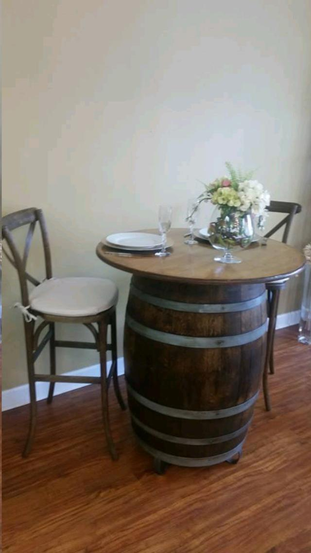 Where to find VINTAGE BARREL DARK W  TABLE TOP in Cornelius