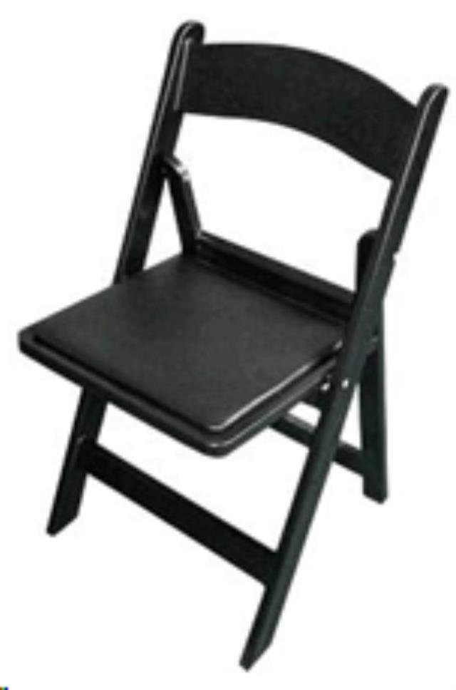 Where to find CHAIR BLACK PADDED RESIN in Cornelius