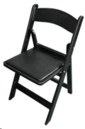 Where to rent CHAIR BLACK PADDED RESIN in Cornelius NC