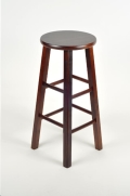 Rental store for BAR STOOL MAHOGANY W O BACK in Cornelius NC