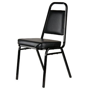 Where to find STACKING CHAIR BLACK PADDED in Cornelius