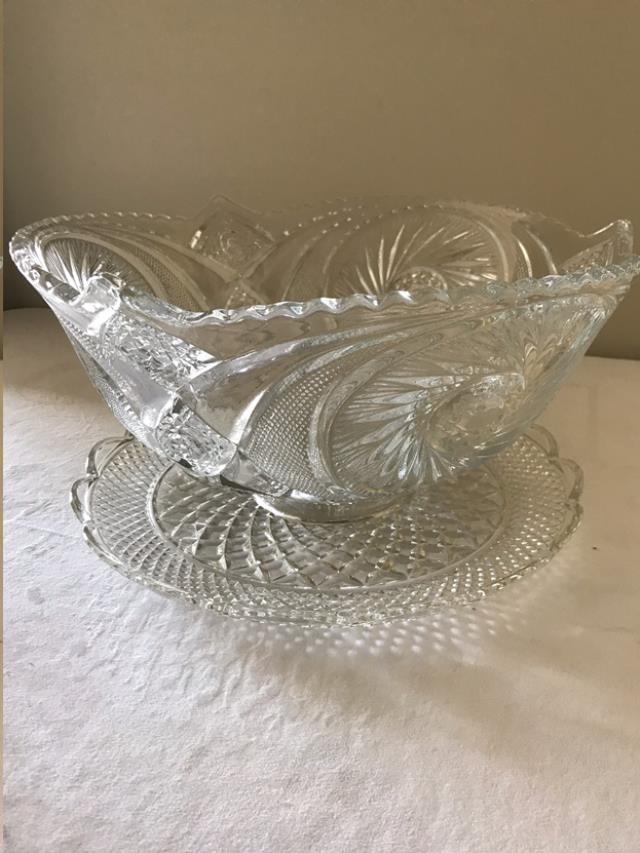 Where to find CUT GLASS PUNCH BOWL in Cornelius