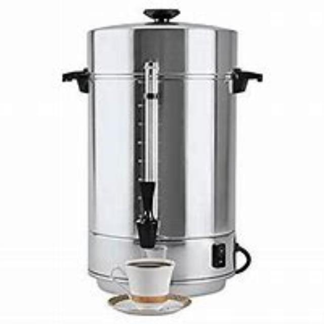 Where to find COFFEE MAKER 100 CUP ALUMINUM in Cornelius