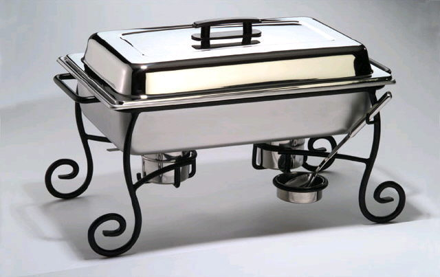 Where to find CHAFER STAND BLACK IRON in Cornelius