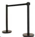 Where to rent STANCHION, BLACK RETRACTABLE in Cornelius NC