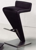 Where to rent BAR STOOL BLACK LEATHER Z-STYLE in Cornelius NC